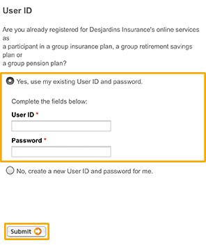 Register For Online Services Dfs Desjardins Life Insurance