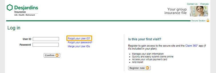 Retrieve Your User Id Or Password Dfs Desjardins Life Insurance