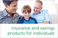 Insurance and savings products for individuals