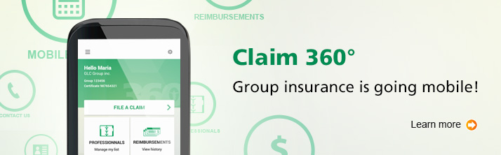 Claim 360 degree - Group insurance going mobile! - learn more